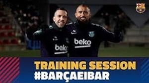 آخرین تمرین بارسلونا قبل از رویارویی با ایبار