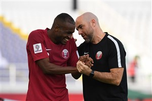 تمجید مربی قطر از اکرم عفیف و معز علی