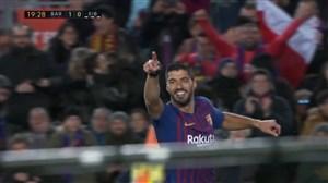 گل اول بارسلونا به ایبار(سوارز)
