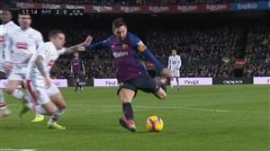 گل دوم بارسلونا به ایبار (مسی)