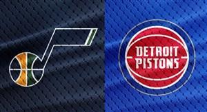 خلاصه بسکتبال دیترویت پیستونز - یوتا جاز