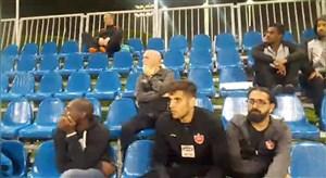 کادرفنی و بازیکنان پرسپولیس تماشاگر دیدار تیم ملی امید