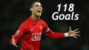 تمام 118 گل کریستیانو رونالدو در منچستریونایتد