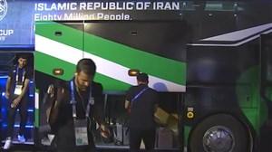 ورود تیم ملی ایران به ورزشگاه آل مکتوم