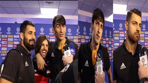 مصاحبه بازیکنان تیم ملی ایران پس از بازی عراق