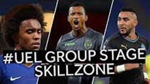 تکنیک های برتر مرحله گروهی لیگ اروپا 19-2018