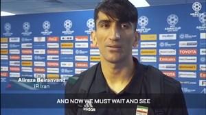 مصاحبه AFC با بیرانوند پس از تساوی با عراق