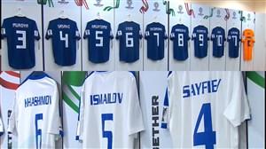 ورود و رختکن دو تیم ژاپن و ازبکستان پیش از بازی