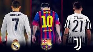 پیراهنهای محبوب باشگاه ها بر تن ستارگان فوتبال