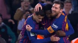 گل دوم بارسلونا به لوانته (دبل دمبله)
