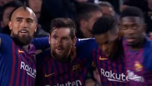 گل سوم بارسلونا به لوانته توسط لیونل مسی