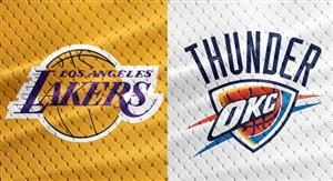 خلاصه بسکتبال اوکلاهاماسیتی تاندر - لس آنجلس لیکرز