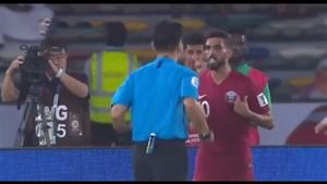حرکت عجیب و کل کل هیدوس کاپیتان قطر با داور بازی عربستان