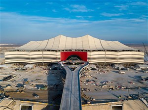 ورزشگاه زیبای الخور در یک قدمی افتتاح(عکس)