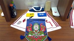 رختکن دو تیم ایران و عمان پیش از بازی