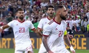 گل دوم ایران به عمان (دژاگه-پنالتی)
