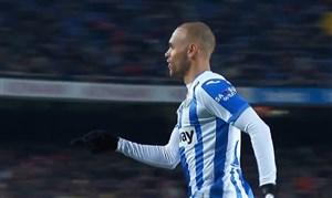 گل اول لگانس به بارسلونا توسط برایت وایت