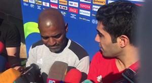 اختصاصی ورزش سه ؛ صحبتهای اوسیانو کروز در حاشیه تمرینات تیم ملی
