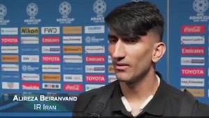 مصاحبه AFC با علیرضابیرانوند پس از بازی عمان
