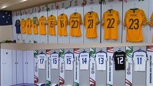 رختکن دو تیم استرالیا و ازبکستان پیش از بازی