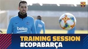 اولین تمرین آماده سازی بارسلونا برای تقابل با سویا