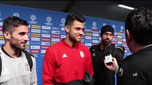 گفتگو با پورعلی گنجی ، محمدی و رضاییان بعد از بازی با عمان