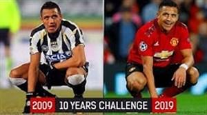 چالش عکس ده ساله ستارگان فوتبال