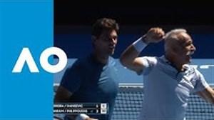 گزیده ای از دیدار منصور بهرامی در تنیس آزاد استرالیا 2019