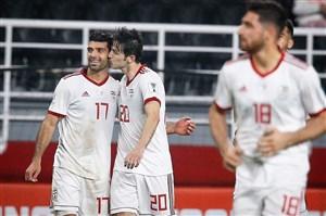 گل های بازی ایران - چین با گزارش عربی