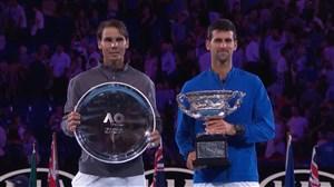 مراسم اهدای جام قهرمانی تنیس آزاد استرالیا 2019