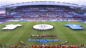 ورود به زمین و سرود دو تیم ایران و ژاپن