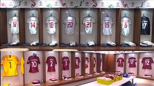 رختکن دو تیم امارات و قطر پیش از بازی