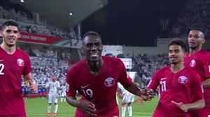 گل دوم قطر به امارات ( المعز علی )