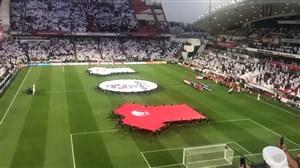 حرکت ناشایست هواداران امارات هنگام پخش سرود ملی قطر