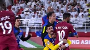گل سوم قطر به امارات ( حسن الهیدوس)