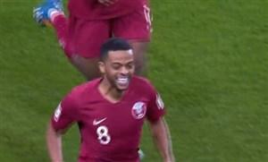 گل چهارم قطر به امارات (حامد اسماعیل )