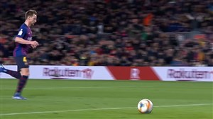 گل دوم بارسلونا به سویا (راکیتیچ)