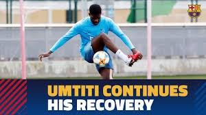 تمرین ریکاوری اومتیتی برای بازگشت به ترکیب بارسلونا