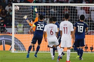 گلهای بازی قطر و ژاپن با گزارش عربی