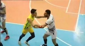 درگیری در دیدار والیبال کاله مازندران - پیکان