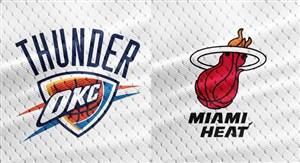 خلاصه بسکتبال میامی هیت - اوکلاهاما سیتی تاندرز