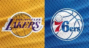 خلاصه بسکتبال فیلادلفیا سیکسرز - لس آنجلس لیکرز