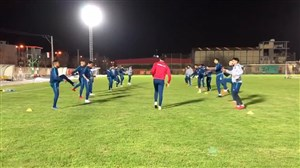 تمرینات بازیکنان الکویت پیش از رویارویی با ذوب آهن
