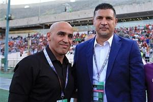 صحبت های منصوریان و دایی قبل از بازیهای پلی اف لیگ قهرمانان