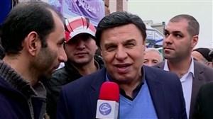 حضور چهره های ورزشی در راهپیمایی 22 بهمن