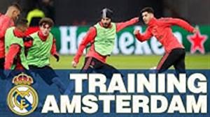 تمرینات رئال مادرید قبل از تقابل با آژاکس