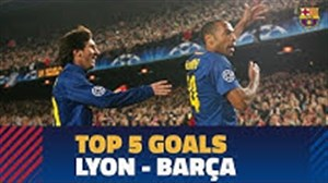 5 گل برتر بارسلونا مقابل لیون فرانسه