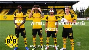 چالش پنالتی بازیکنان دورتموند با عینک های عجیب