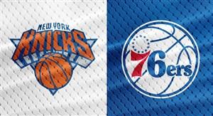 خلاصه بسکتبال فیلادلفیا سیکسرز - نیویورک نیکس