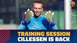 بازگشت سیلیسن به تمرینات بارسلونا
